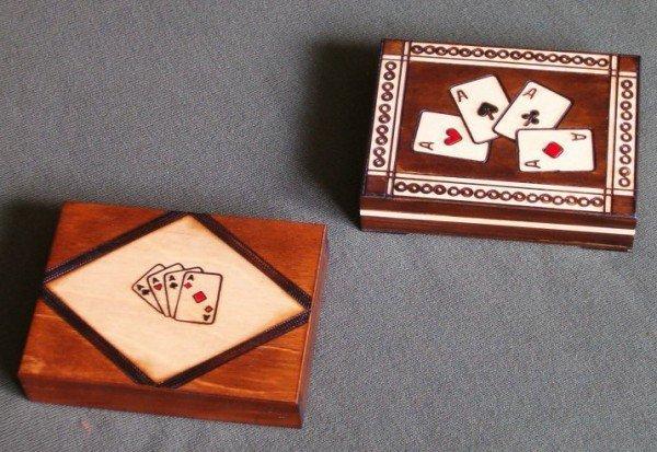 DREWNIANA KARCIARKA + KARTY