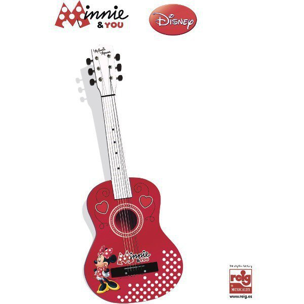 REIG Minnie Drewniana Gitara 62,5 cm
