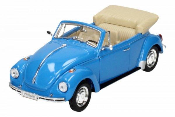 Volkswagen Beetle Cabrio, niebieski