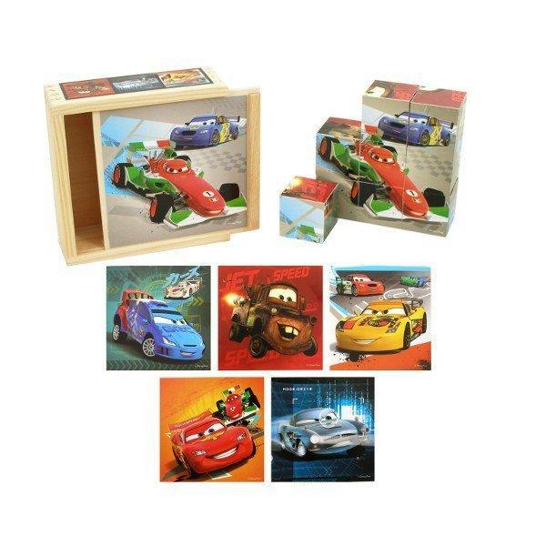 Drewniane Klocki Cars
