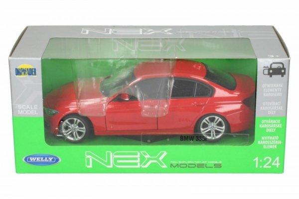 BMW 335i, czerwony