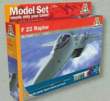 ITALERI Model set 'home play' F-22