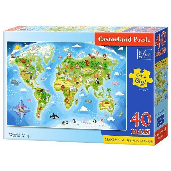 40 EL. MAXI Mapa świata