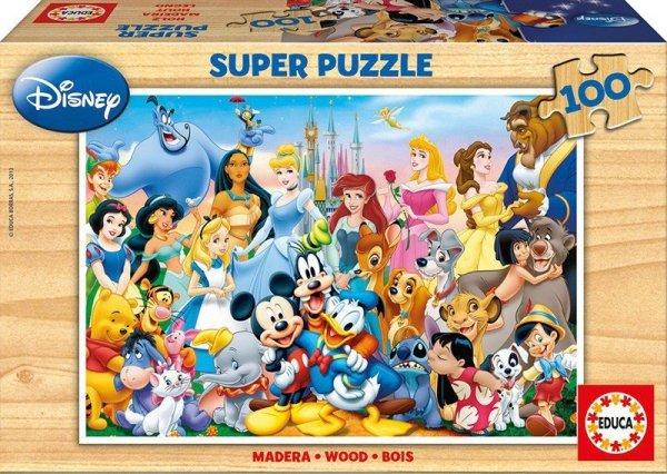 Puzzle 100 elementów Postacie Disneya