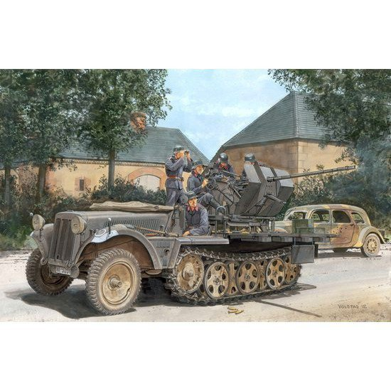 DRAGON Sd.Kfz.10/4 fur 2 cm FlaK 30 1939