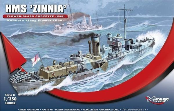 MIRAGE HMS Zinnia Korweta Klasy Flower