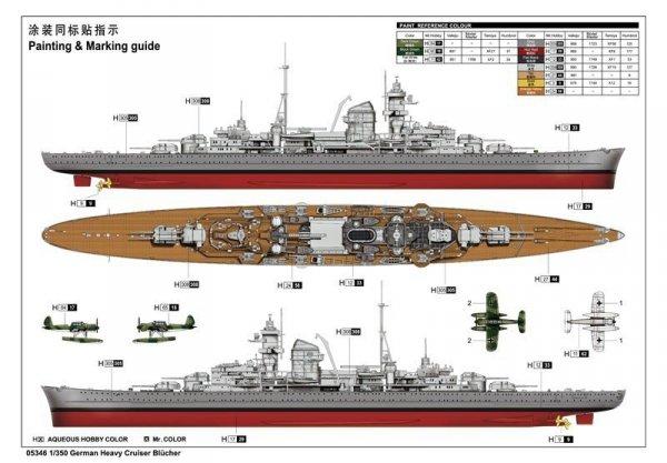 German Heavy Cruiser Blucher