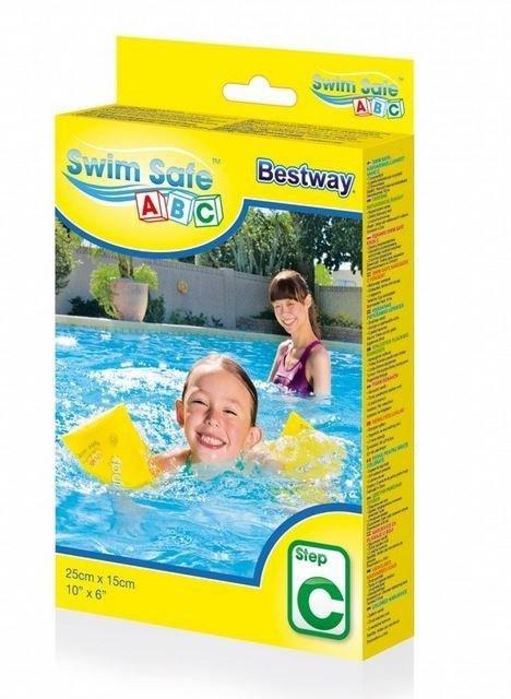 Rękawki do nauki pływania M Żółte 25x15 cm