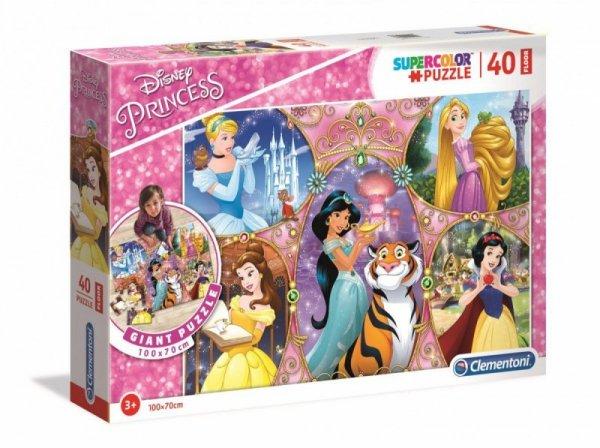 Puzzle podłogowe 40 elementów Super Kolor Księżniczki Disneya
