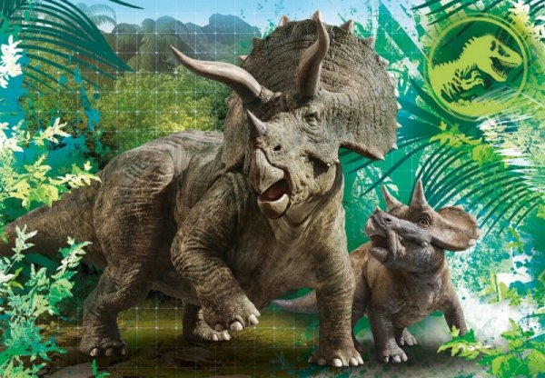 Puzzle 3 x 48 elementów Super Kolor Jurassic World