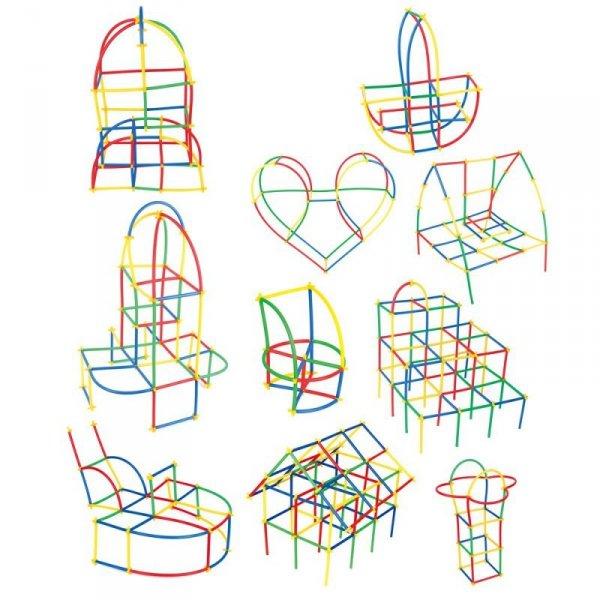 Klocki Malych Geniuszy - Słomki 110 elementów