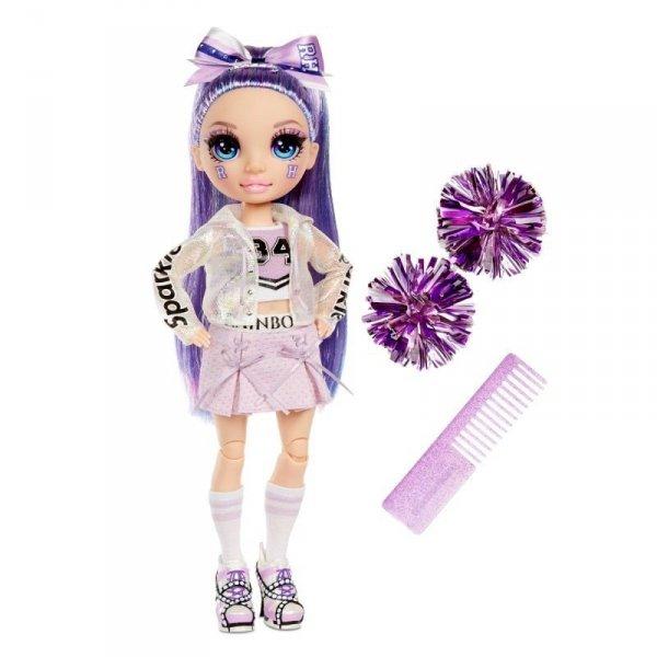 Lalka RAINBOW High Cheer Doll, Wiolet Willow
