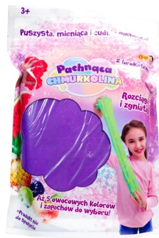 Masa plastyczna Chmurkolina pachnąca Big Pack fiolet brokat