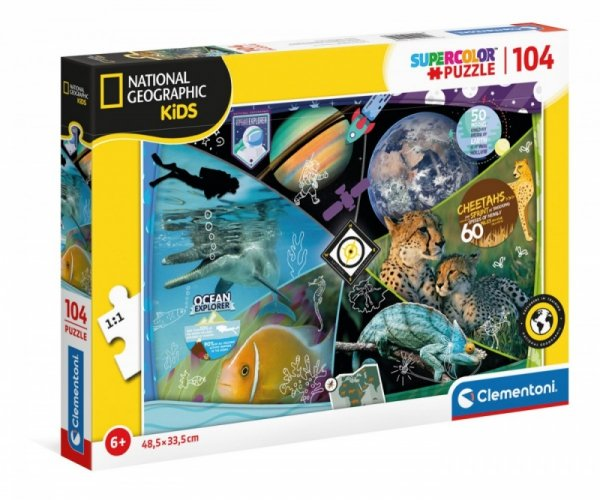 Puzzle 104 elementów National Geographic Explorers in Training