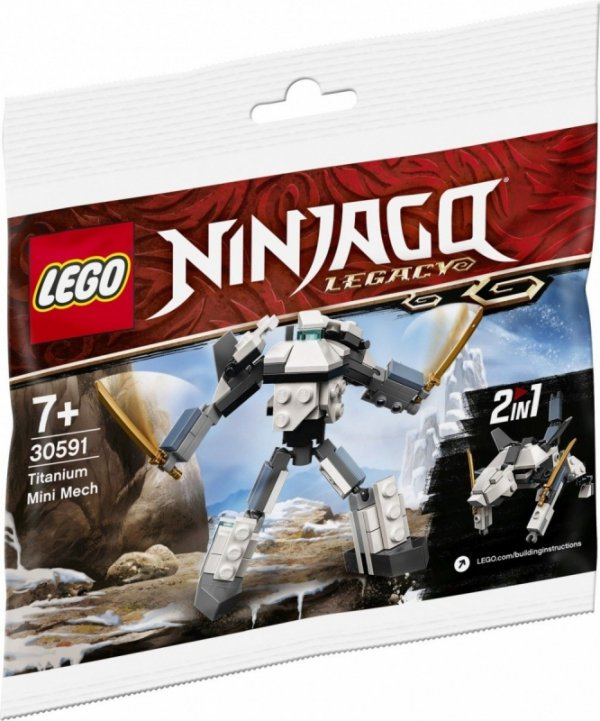 Klocki Ninjago 30591 Tytanowy mini Mech
