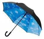 Chmury chmurki obłoczki - CZARNY parasol Ø120 cm