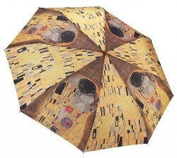 Gustav Klimt Pocałunek parasolka składana Galleria