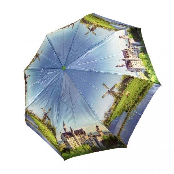 Piękne miejsca parasolka składana full-auto satyna