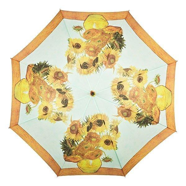 """Vincent van Gogh """"Słoneczniki"""" długi parasol ze skórzaną rączką"""