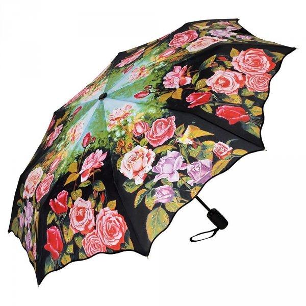 Różany ogród - parasolka składana full-auto Von Lilienfeld
