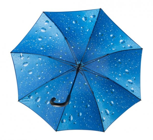 Krople kropelki deszcz - GRANATOWY parasol Ø120 cm