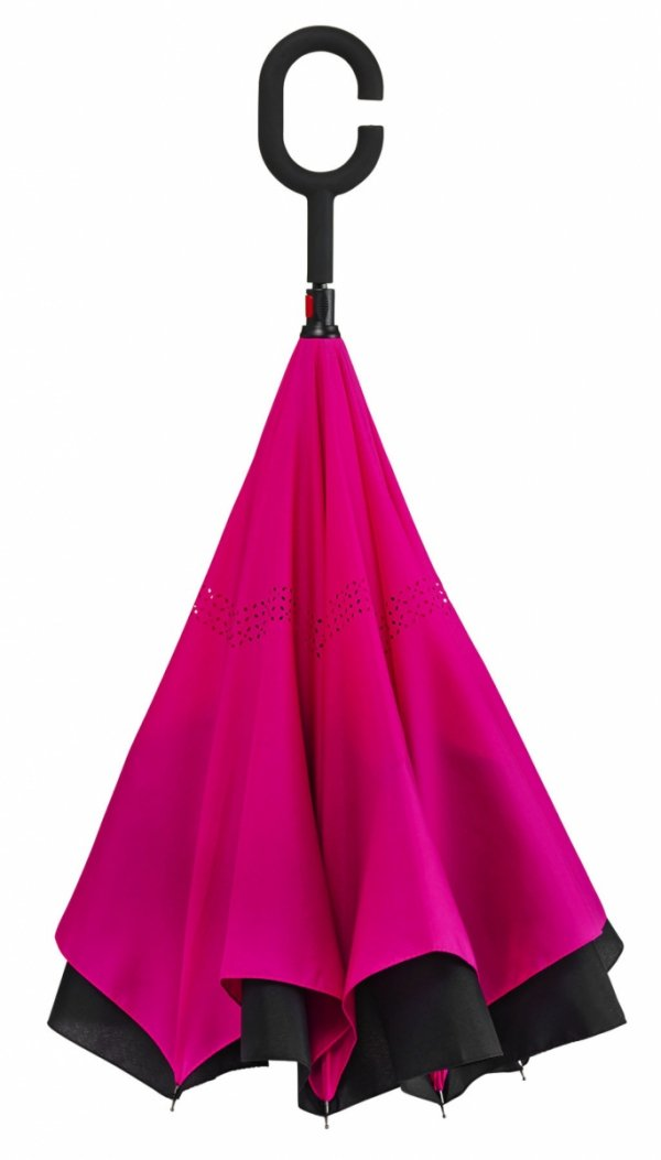 SuperBrella różowy parasol odwrotny Impliva