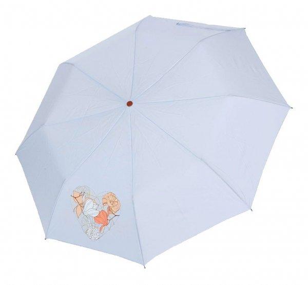 Pastelowy błękit - parasolka składana półautomat Airton 3631