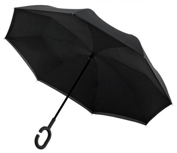SuperBrella czarny parasol odwrotny Impliva