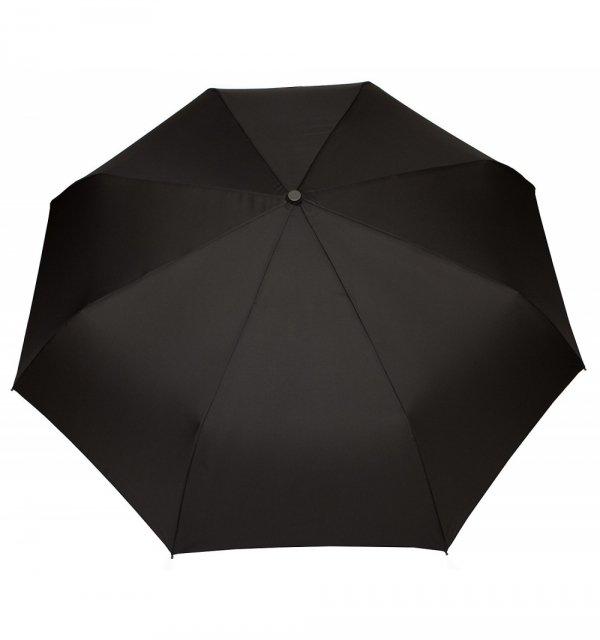 Czarna uniwersalna parasolka składana bez automatu DM351