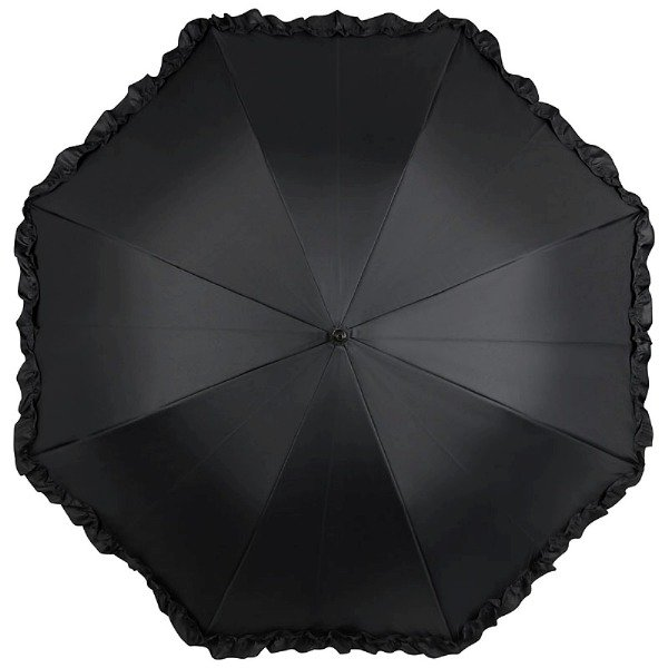 Różany bukiet - parasol dwuwarstwowy ze skórzaną rączką
