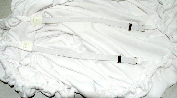 Pokrowce na leżankę Old Wood welur biały