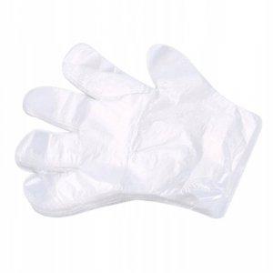 Rękawice foliowe jednorazowe hdpe 100szt.