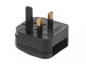 MCE71 Adapter gniazdo EU na wtyk UK czarny