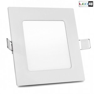 Panel LED sufitowy podtynkowy slim 6W Natural white 4000-4500K Led4U LD152N  120*120*H20mm
