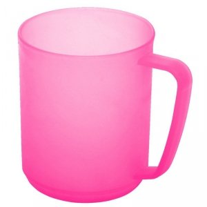 Kubek hawajski z uchwytem 0,35L Plast Team różowy