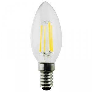 Żarówka  Maclean, Filamentowa LED E14, 6W, 230V, WW ciepła biała 3000K, 600lm, Retro edison ozdobna świeczka C35, MCE286