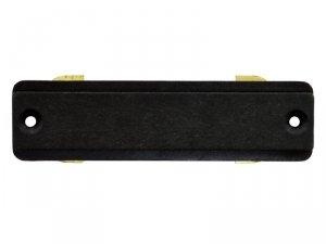 Łącznik do szyn jednofazowych prosty czarny 230v