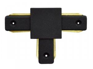 Łącznik do szyn jednofazowych kształt t czarny 230v