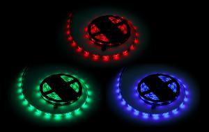Sznur diodowy 5m Rebel  RGB(150x5050 SMD), wodoodporny -- białe PCB