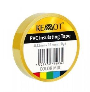 NAR0426 Taśma izolacyjna Kemot 0,13x19x10Y klejąca żółta