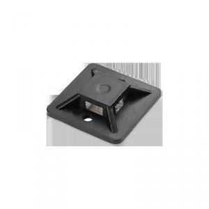 Uchwyt opaski kablowej, samoprzylepny, 30x30 mm, czarny, 10 sztuk