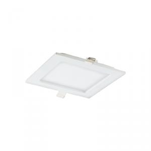 AKMAN LED 9W, oprawa downlight, podtynkowa, kwadratowa, 480lm, 3000K, biała, wbudowany zasilacz LED