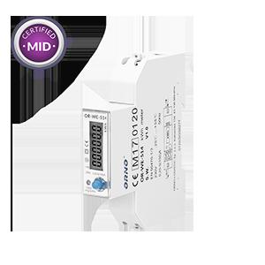 1-fazowy licznik energii elektrycznej, 100A, port RS-485, MID, 1 moduł, DIN TH-35mm