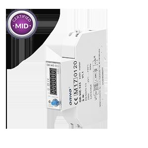 1-fazowy licznik energii elektrycznej 100A, wielotaryfowy, port RS-485, MID, 1 moduł, DIN TH-35mm