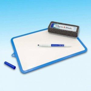 Paper Mate-zestaw marker suchościeralny kolor niebieski + gąbka+tablica  (26x18,7cm)