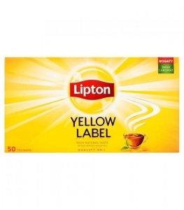LIPTON Herbata Czarna Yellow Label 50 torebek