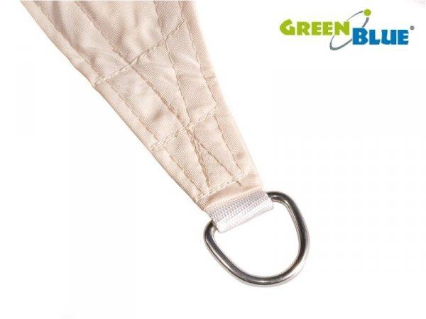 Żagiel ogrodowy zacieniacz UV GreenBlue, poliester, 5m kwadrat, kremowy, hydrofobowa powierzchnia, GB505