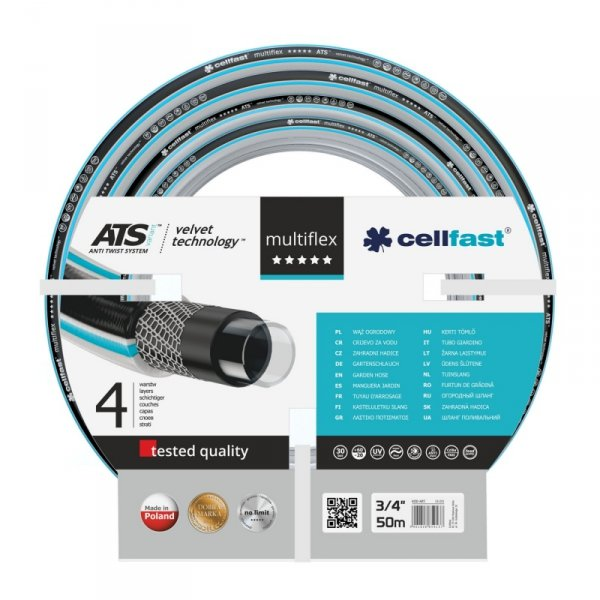 "Wąż ogrodowy Cellfast Multiflex ATSV 3/4"" 50m"