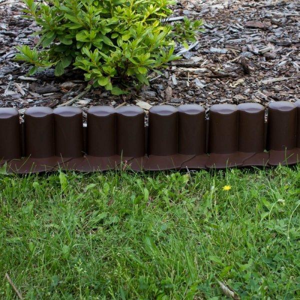 Palisada ogrodowa z najazdem IPAL6 3,02m brązowa