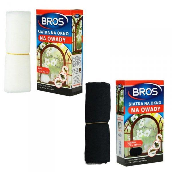 Siatka na okno przeciw owadom Bros 150x180 czarna
